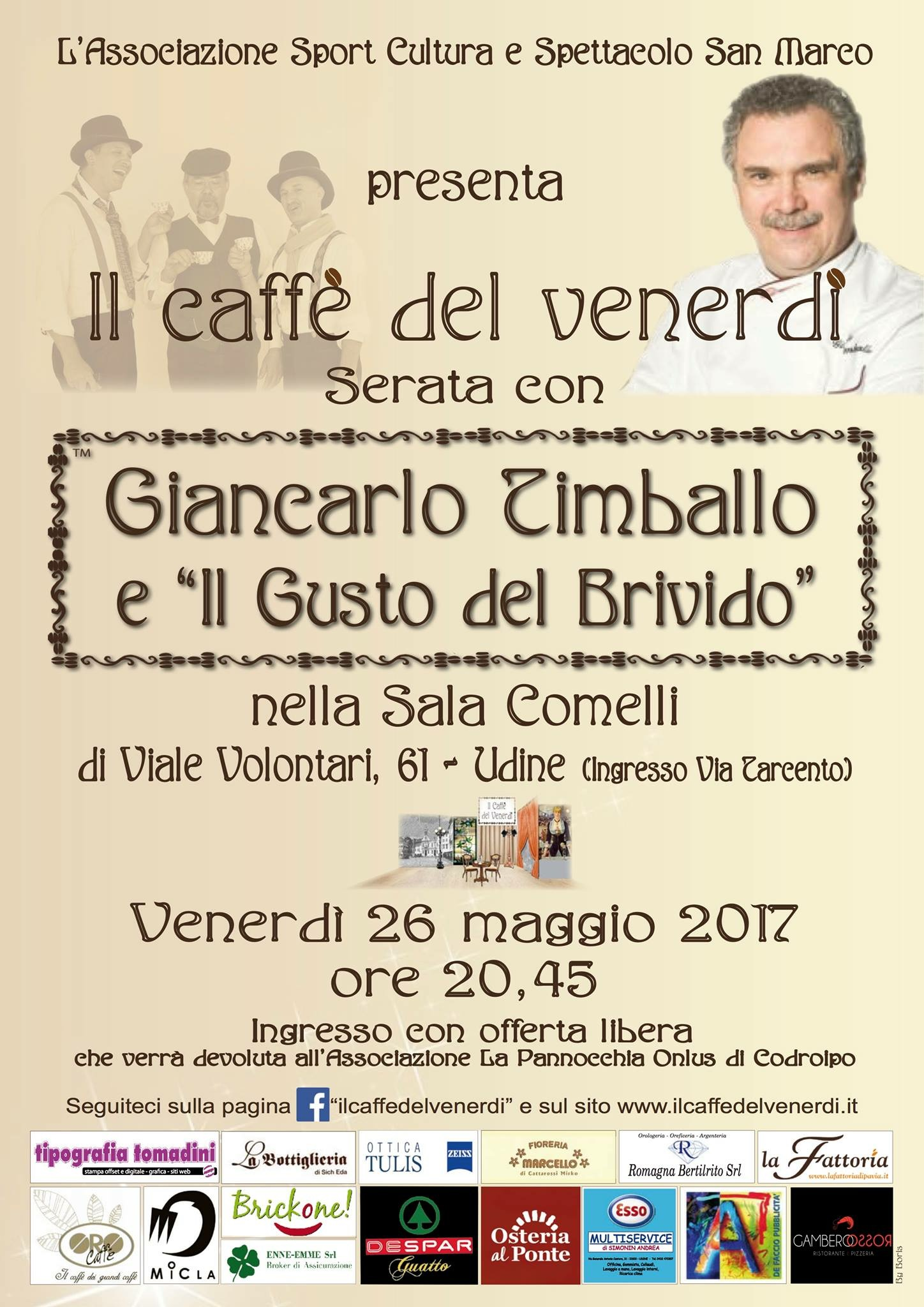 Locandina serata Giancarlo Timballo 26-05-2017