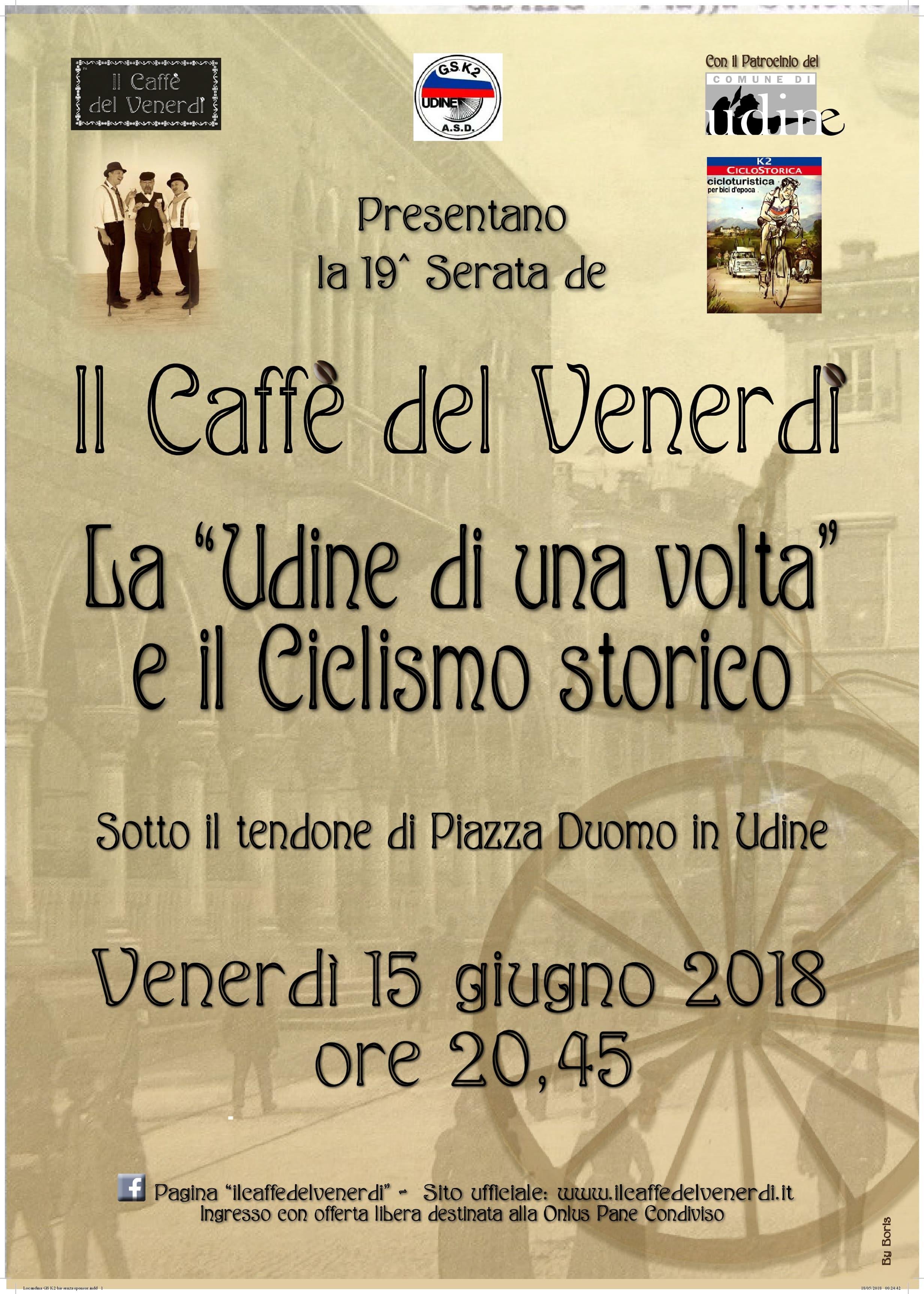 """locandina de """"la Udine di una volta"""" e il Ciclismo storico"""