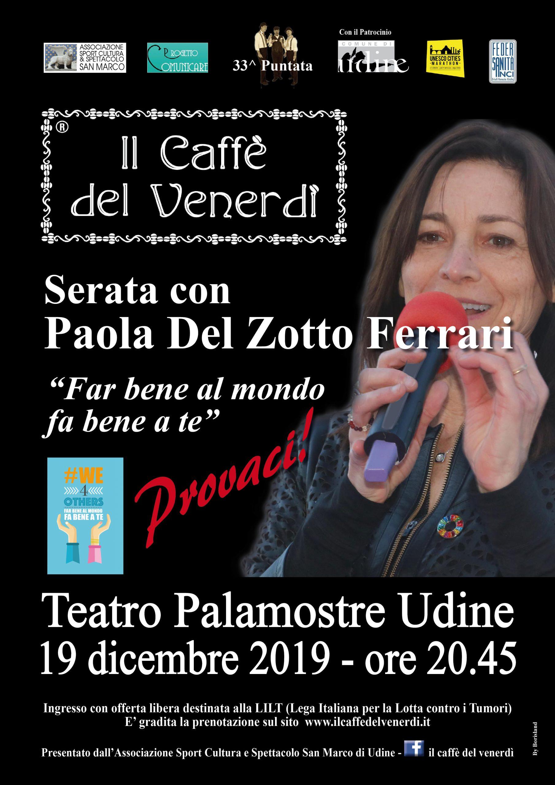 Locandina serata con Paola Del Zotto Ferrari